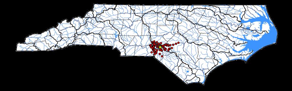 Semotilus lumbee Range Map